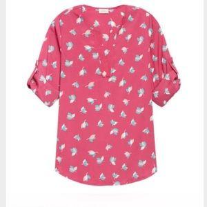 NWOT - Stitch Fix Pixley Pink Petal Print Blouse