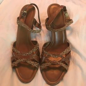 Cole Haan Brown High Heeled Sandals