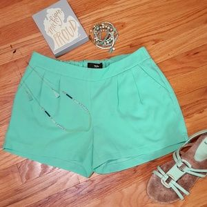 Mossimo Mint Green Crepe Poly Pleated Shorts XS