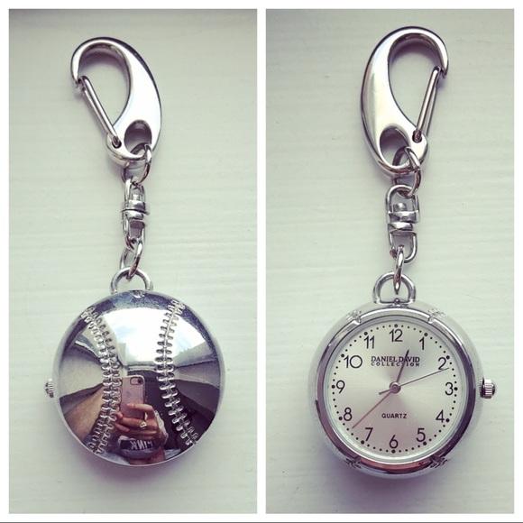 Daniel David Collection Accessories - Vintage silver baseball clip keychain  watch f7cfbafdc