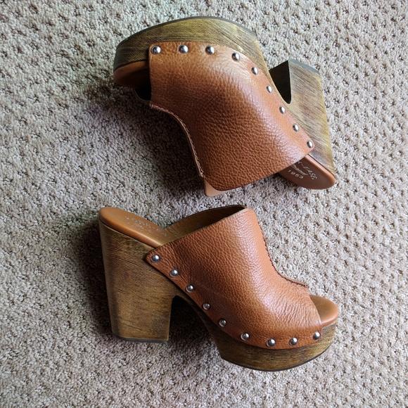 ec75f5eb14d Kork-Ease Shoes -   Kork-Ease   Open Toe Wedge Sandal Brown Leather