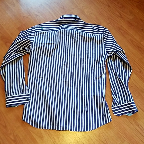 71 off jared lang other jared lang purple white for Purple striped dress shirt
