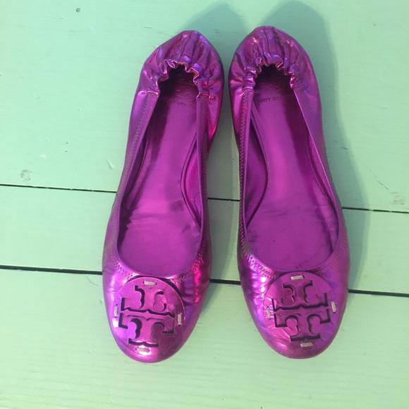 18d22d309d801 Tory Burch Reva Flat size 9.5 Metallic Pink. M 595a71c74225be1e7800b1f1