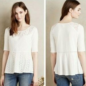 Tiny. Brand xl white lace top anthropologie