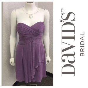 Lavender Strapless Dress By David's Bridal