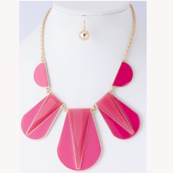 Jewelry - Fuchsia Pink Bib Necklace