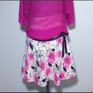 Motherhood Maternity Floral Skirt with Belly Panel