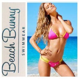 🌸👙Beach Bunny Sun Bunny Bikini bra XL bottom L