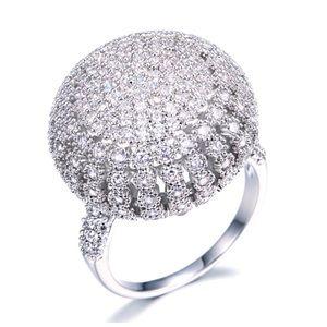 🆕 Handmade Swarovski Crystals Dome Ring DF101