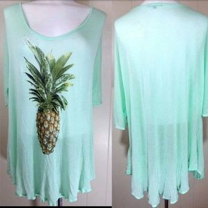f304ca0a4eca8 Wildfox Swim - Wildfox Swim Pineapple Tunic Cover Up
