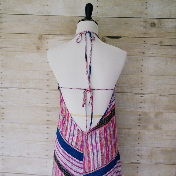 Dresses - Ethnic Halter Summer Festival Dress Open Back