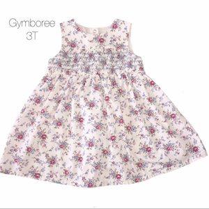 Gymboree Cream Floral Flare Dress 3T