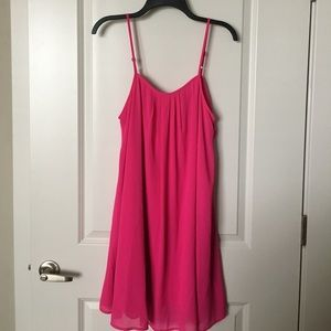 NEVER WORN hot pink dress with back bow detail