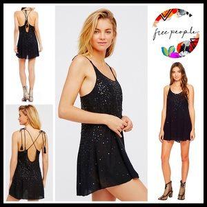 ❗️1-HOUR SALE❗️FREE PEOPLE Embellished Slip Dress