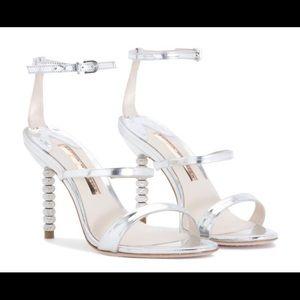 Sophia Webster Crystal Rosalind Silver Sandal Sz39