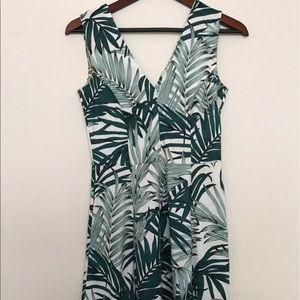 Tropical V Neck Dress
