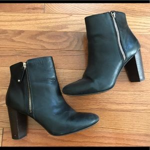 LAST CHANCE! Zara Leather Zip Ankle Boots- Sz 39