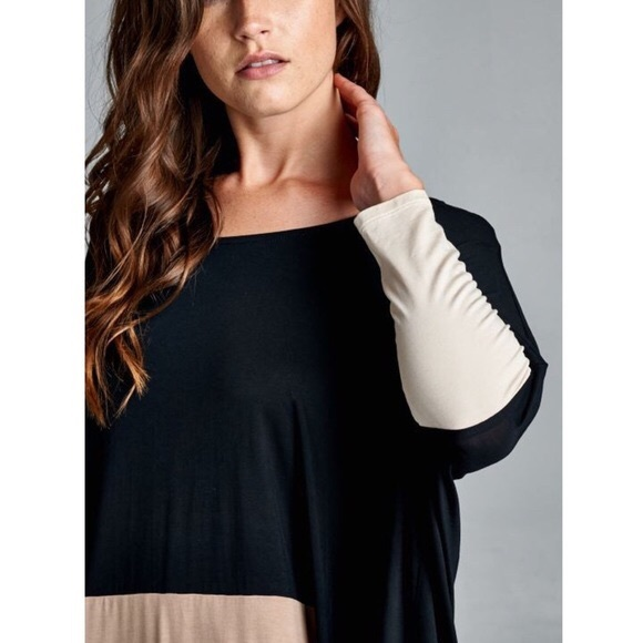 Bellanblue Tops - VINA Stripe Long Sleeve Top - BLACK