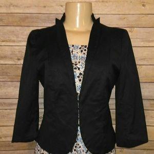 S Old Navy black dressy stretch blazer jacket