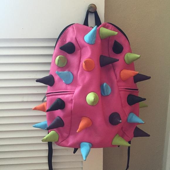 d630f62b7695 MadPax spike backpack EUC pink