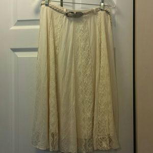Lapis Laced Skirt