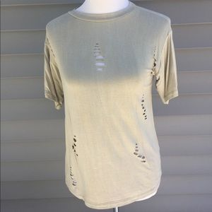 Tops - Distressed Tee - Small