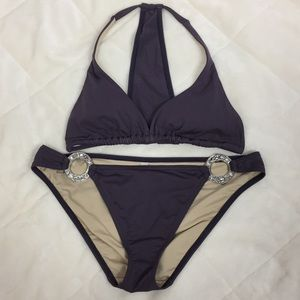 Victoria Secrets T-Back Bikini Top-L Bottom-M