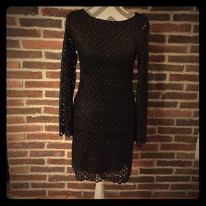 Dresses & Skirts - Black Crochet Dress