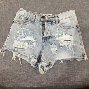 One teaspoon romeos in light denim shorts 23