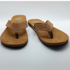 Flip flop with a genuine leather strap & top sole