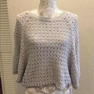 Flattering Beach Sweater Gray BCBGMaxazria Large