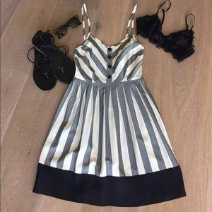 Fremont Silk Striped Sundress with pockets