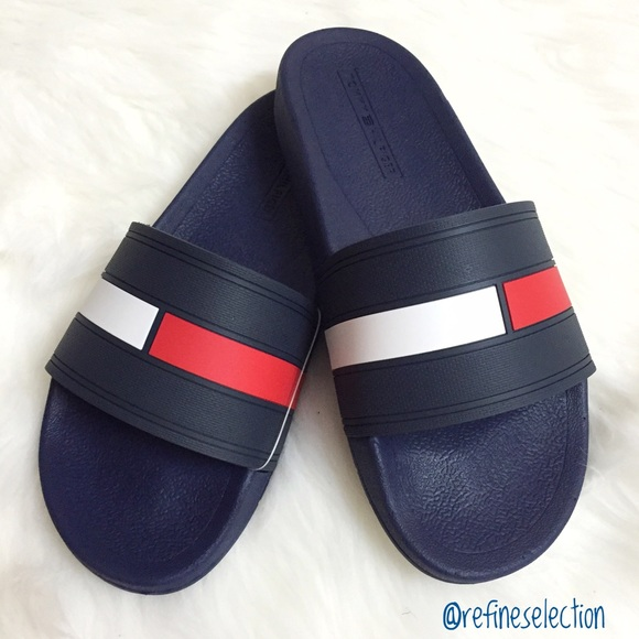 tommy hilfiger tommy hilfiger ernst slides sandal. Black Bedroom Furniture Sets. Home Design Ideas