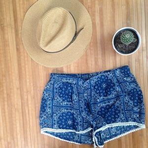 Pants - Paisley Print Soft Shorts