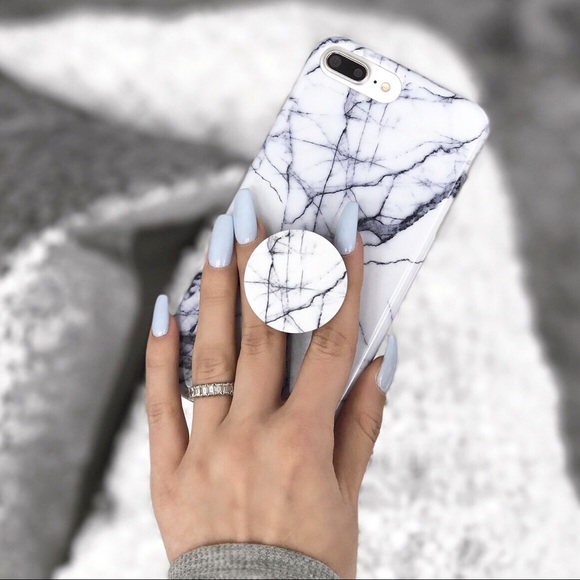 huge discount f4f75 8250b *BUNDLE DEAL* white marble iPhone case + popsocket Boutique