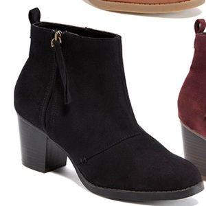 Shoes - Black Suede Zip Ip Boots Bootie