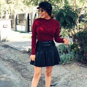 Express Tops - Burgundy long sleeve
