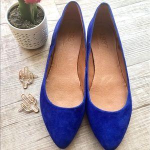 Madewell Sidewalk Skimmer Flat - Crystal Blue