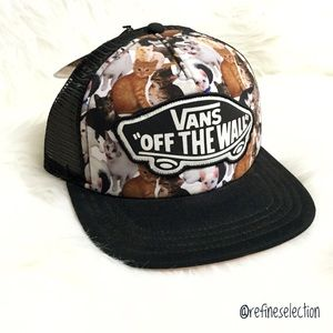ffb87b73b3 Vans Accessories - Vans x ASPCA Kitty Cat Beach Girl Trucker Hat