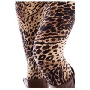 Pants - Thick animal print lined leggings