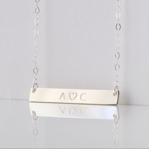 Jewelry - Sterling Silver Personalized Name Bar Necklace
