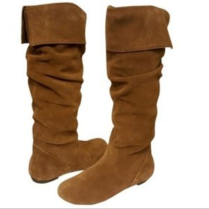 Women\'s Tan Suede Boots Knee High on Poshmark