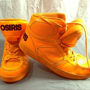 Osiris boys shoes size 6.5 orange basketball