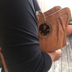Elaine Turner Croc Leather Clutch