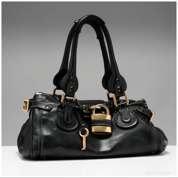 34825b37 Authentic 🌺Chloe🌺 Paddington Black Leather Bag