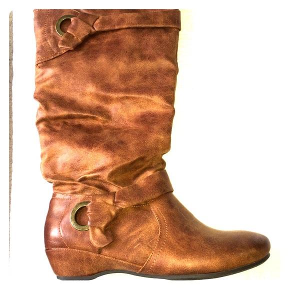 1888c6c8e535c Yuu Medium Brown Slouch Boot. M 595acc6536d5949add0ca933