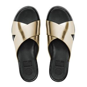 FitFlop Aix Leather Slide Sandals