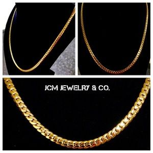 """Other - 14K Gold Plated 26"""" x 4MM Miami Cuban Necklace"""