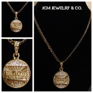 Other - 14K Gold Plated Cuban w/ Micro Last Supper Pendant