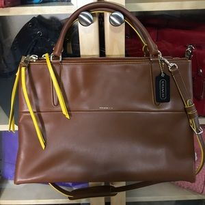 NEW Coach medium edge paint Borough bag
